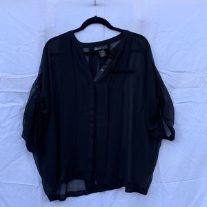 Lane Bryant black sheer blouse Size 14/16